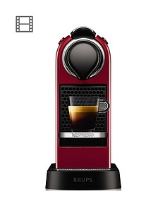 Nespresso Nespresso by Krups Citiz XN741540 Pod Coffee Machine - Cherry Red