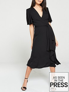 v-by-very-vienna-wrap-frill-midi-dress-black