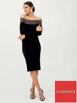 gina-bacconi-off-shoulder-long-sleeve-dress-black
