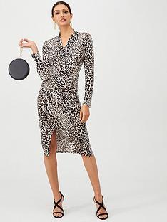 gina-bacconi-animal-print-wrap-dress-blackleopard