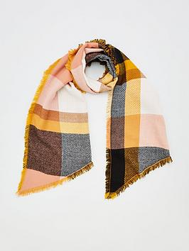 v-by-very-check-woven-scarf-mustard