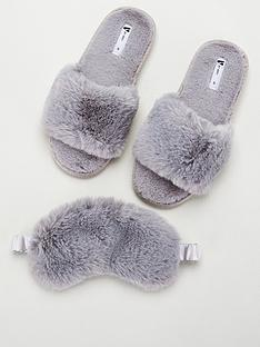 v-by-very-bayleenbspfaux-fur-mask-slipper-box-grey