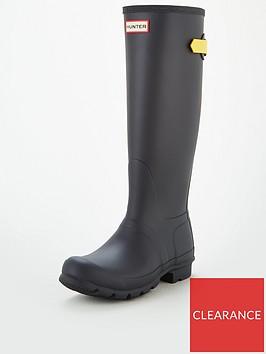 hunter-back-adjustable-tall-wellington-boot-yellowblack