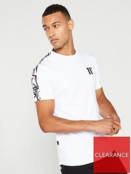 11-degrees-cut-off-panel-t-shirt-white