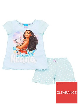 disney-moana-girls-frill-shortie-pyjamas-multi