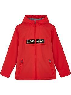 napapijri-boys-zip-through-rainforest-jacket-red