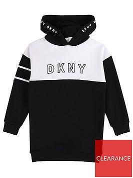 dkny-girls-colourblock-logo-sweat-dress