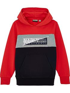 napapijri-boys-baky-colourblock-hoodienbsp--red