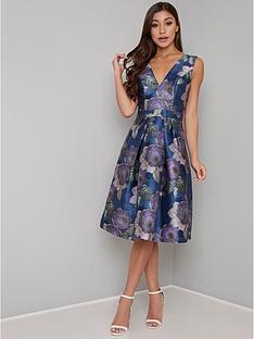 chi-chi-london-james-v-neck-printed-dress-multi
