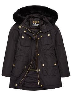 barbour-international-girls-horsepower-faux-fur-hooded-coat-black