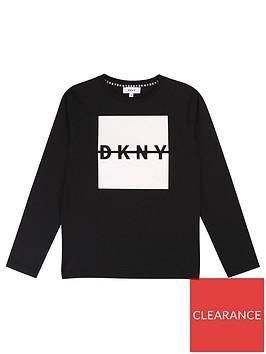 dkny-boys-long-sleeve-box-logo-t-shirt-black