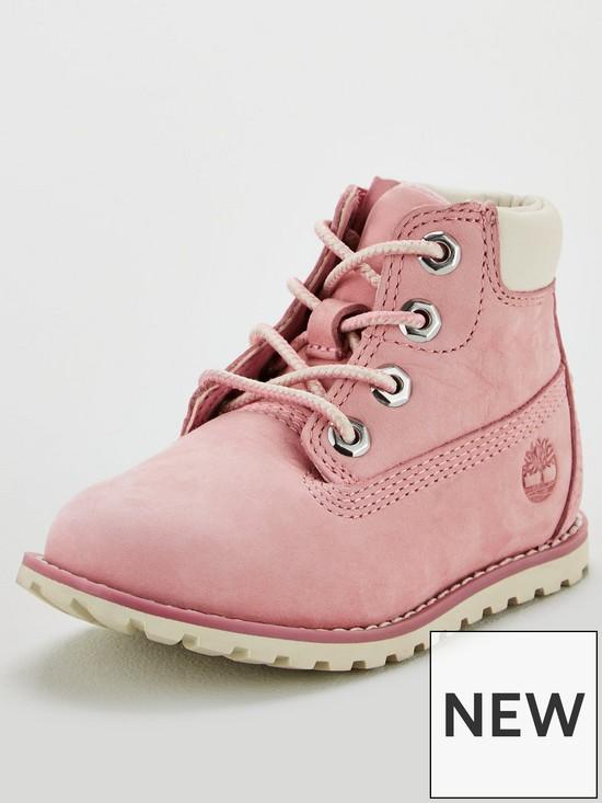 a981e9dd272e1 Timberland Pokey Pine Childrens 6-inch Boots - Pink Nubuck   very.co.uk