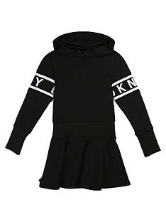 dkny-girls-hooded-sweat-dress-black
