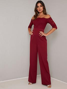 chi-chi-london-carmen-lace-bardot-jumpsuit-burgundy