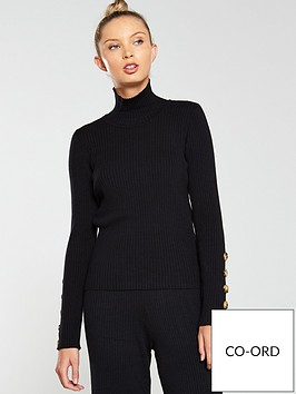 native-youth-the-layla-buttoned-cuff-knit-jumper-co-ord-black