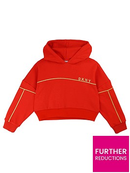 dkny-girls-cropped-boxy-logo-hoodie-red