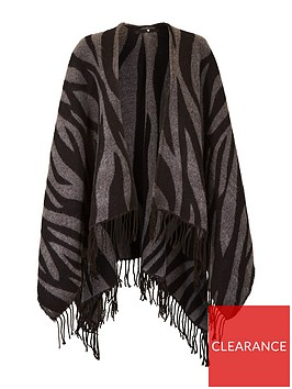 v-by-very-zebra-print-blanket-scarf-black