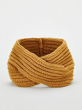 v-by-very-knitted-crossover-headband-mustard