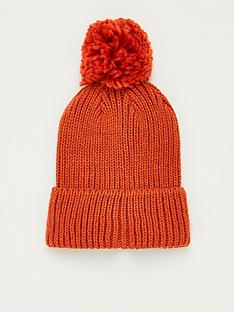 v-by-very-knitted-pom-pom-beanie-rust