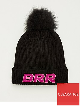 v-by-very-slogan-pom-pom-beanie-brr