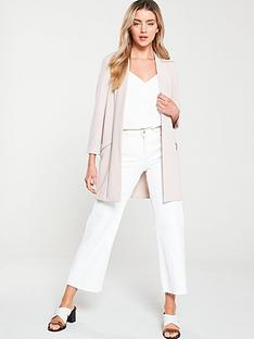 wallis-zip-pocket-longline-blazer-neutral