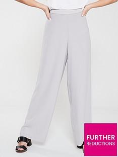wallis-satin-wide-leg-trousers-silver