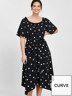 evans-spot-bardot-dress-black