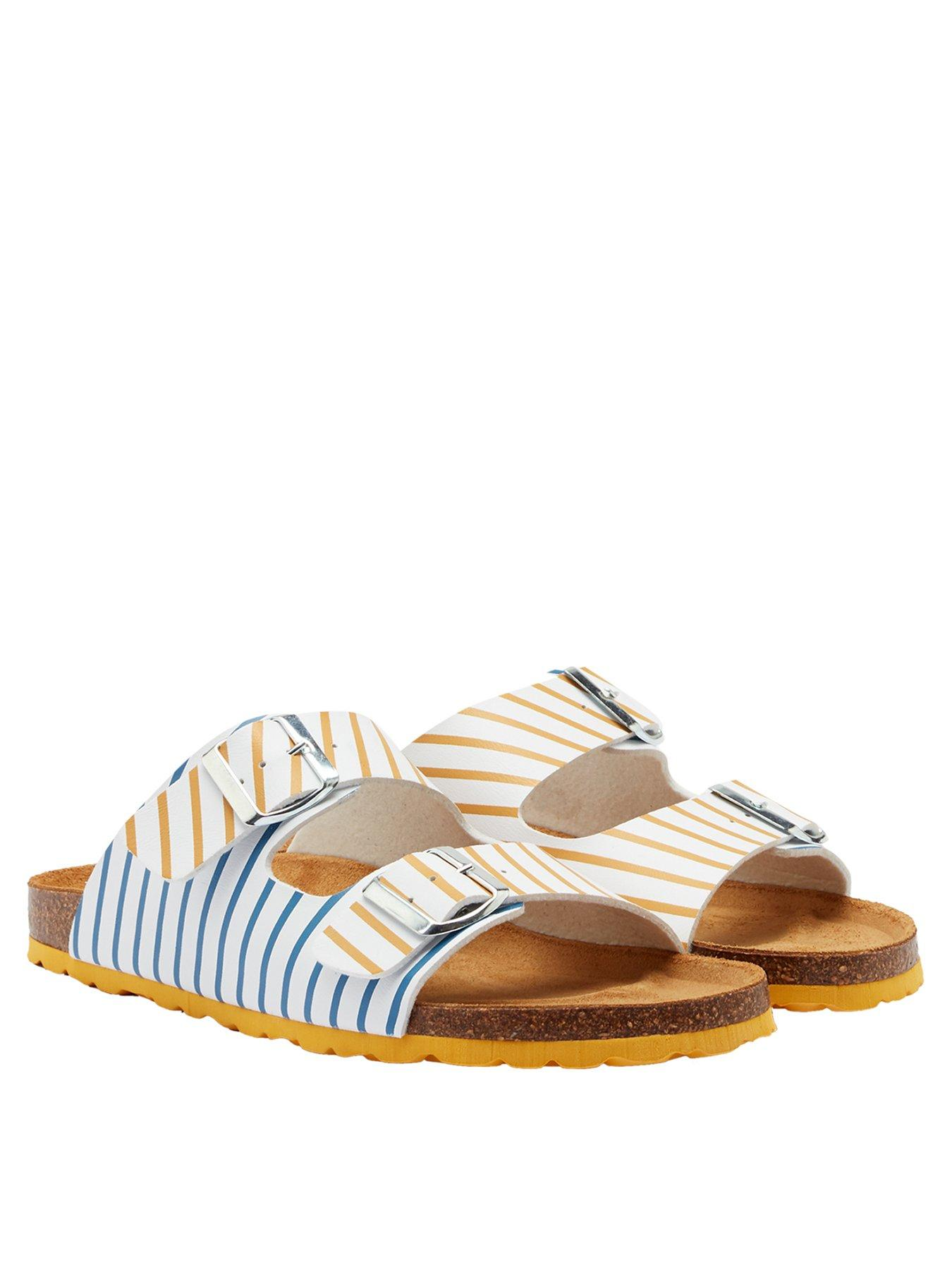 Striped Sandals and Beach Shoes for Women Joules Flip Flops with Moulded Footbed **FREE UK Shipping**