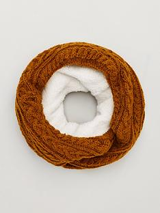 superdry-gracie-cable-snood-ochre