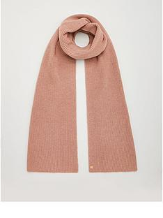 superdry-heritage-ribbed-scarf-camel