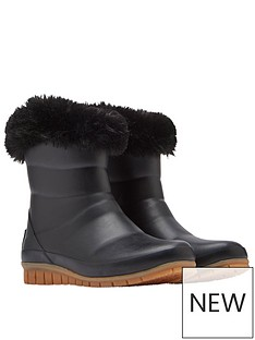 joules-chilton-short-faux-fur-tipped-insulated-wellies-black