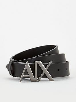 armani-exchange-logo-belt-black