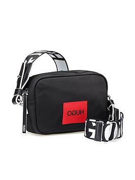 hugo-reverse-logo-crossbody-nylon-bag-black