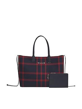 tommy-hilfiger-iconic-checked-tote-bag-red