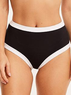 figleaves-high-waisted-tummy-control-bikini-bottoms-blackwhite