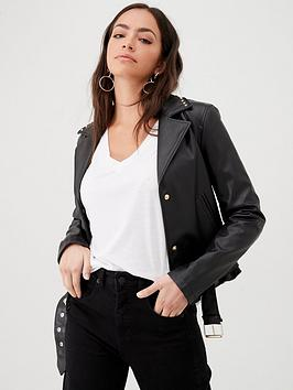 armani-exchange-faux-leather-studded-jacket-black