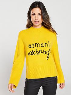 armani-exchange-knitted-high-neck-jumper-honey