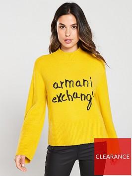 armani-exchange-knitted-high-neck-jumper-honey
