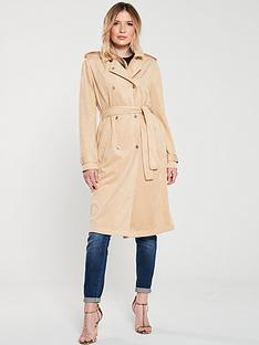 armani-exchange-eco-faux-suede-trench-coat-toffee