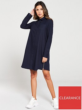armani-exchange-button-through-dress-blueberry