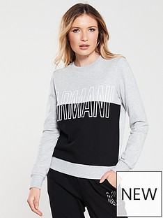 armani-exchange-logo-sweatshirt-grey-black
