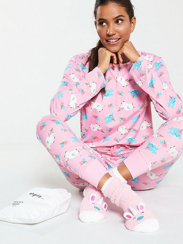 distinctive design huge inventory official sale Unicorn PJs in a Bag with Matching Socks - Pink
