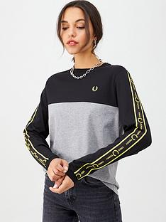 fred-perry-long-sleeve-taped-t-shirt-blackgreynbsp