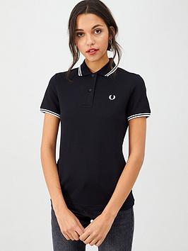 fred-perry-twin-tipped-polo-top-blacknbsp