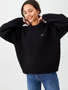 fred-perry-textured-jumper-blacknbsp