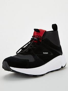 hugo-horizon-knitted-runner-black-white