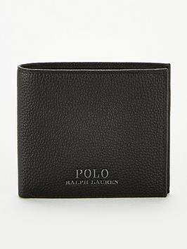 polo-ralph-lauren-pebble-leather-billfold-wallet-black