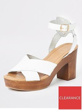 river-island-river-island-leather-cross-platform-heel-sandals-white
