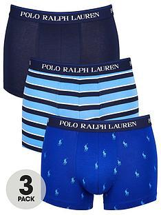 polo-ralph-lauren-three-pack-patternedplain-trunks-blue