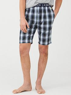 polo-ralph-lauren-woven-checked-lounge-shorts-green